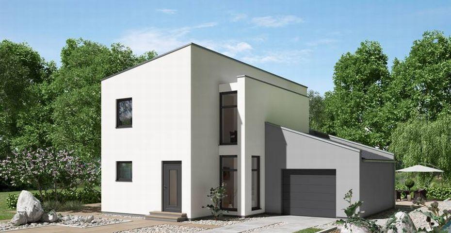 Garage Bauen  Einfamilienhaus mit Garage bauen mit Ytong Bausatzhaus
