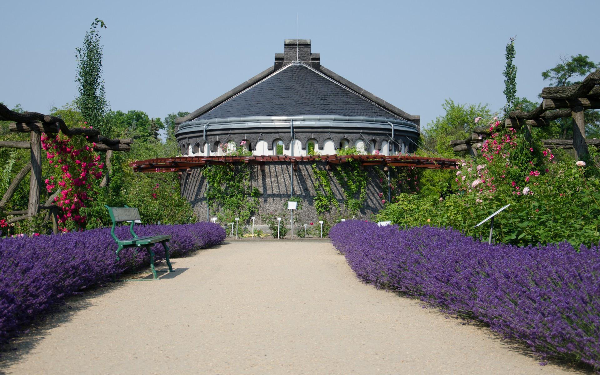 Garten Berlin  patio chihuly art ausstellung botanischer garten denver