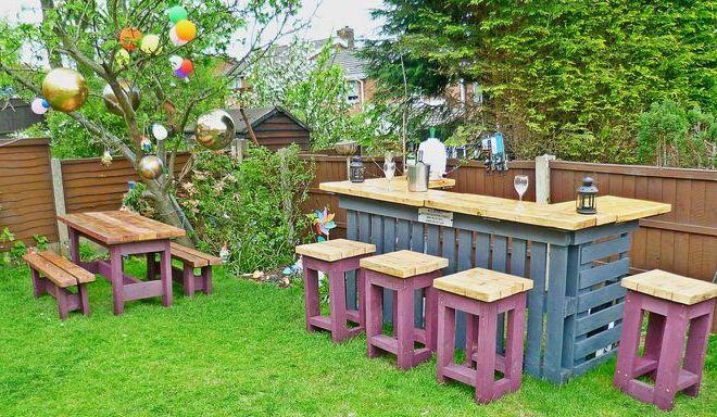 Garten Diy  Gartenmöbel aus Paletten Gartensessel Anleitung und 65