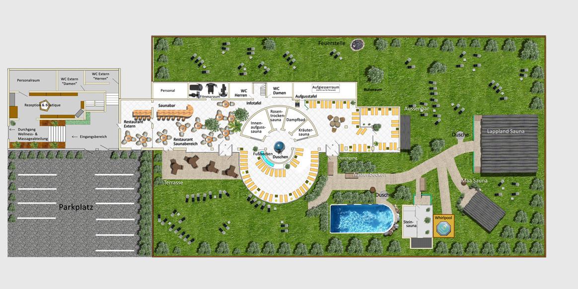 Garten Eden Dietzenbach  Plan der Anlage