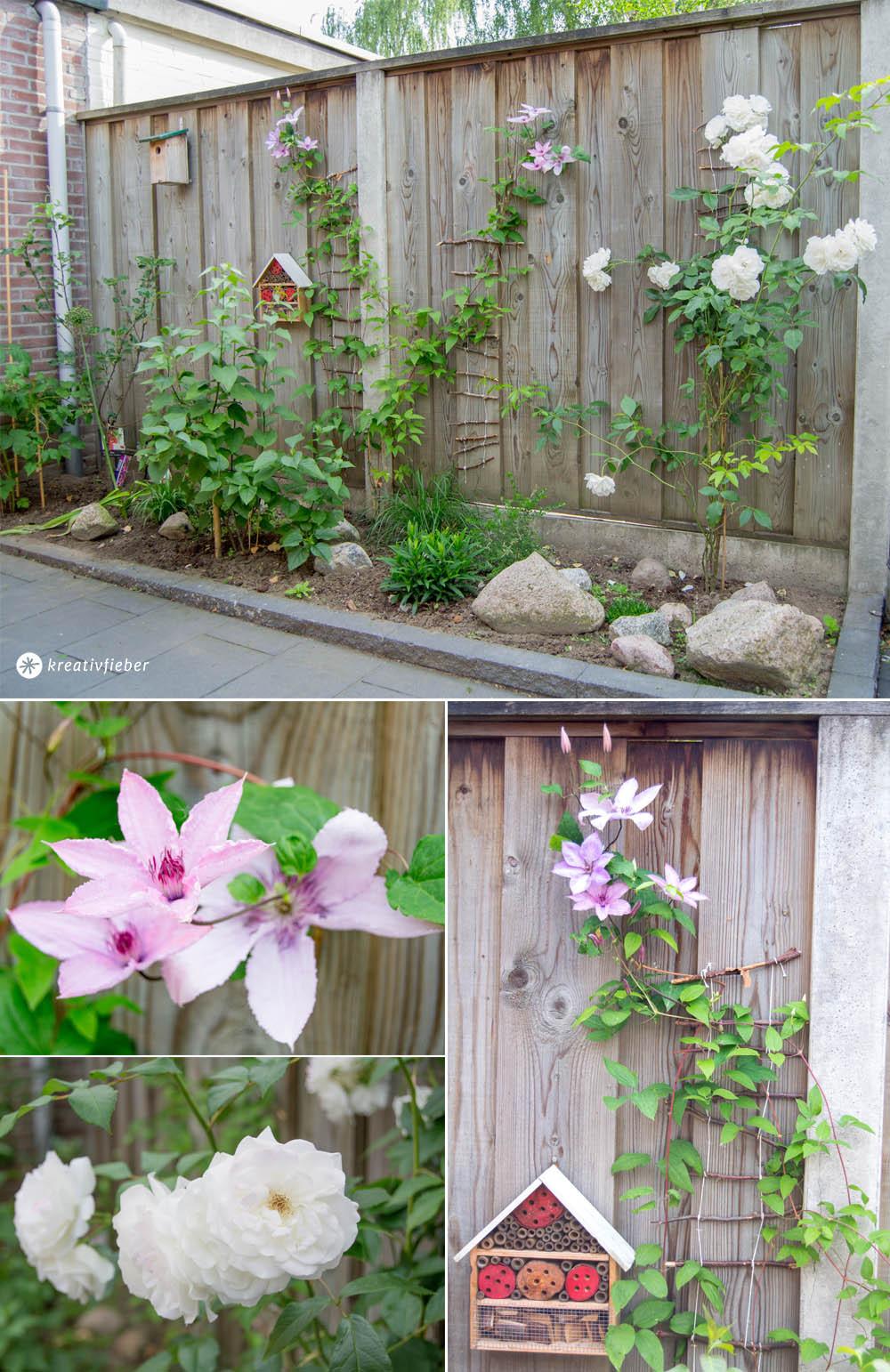 Gartenzaun Diy  DIY Kletterhilfe für Pflanzen im Garten bauen