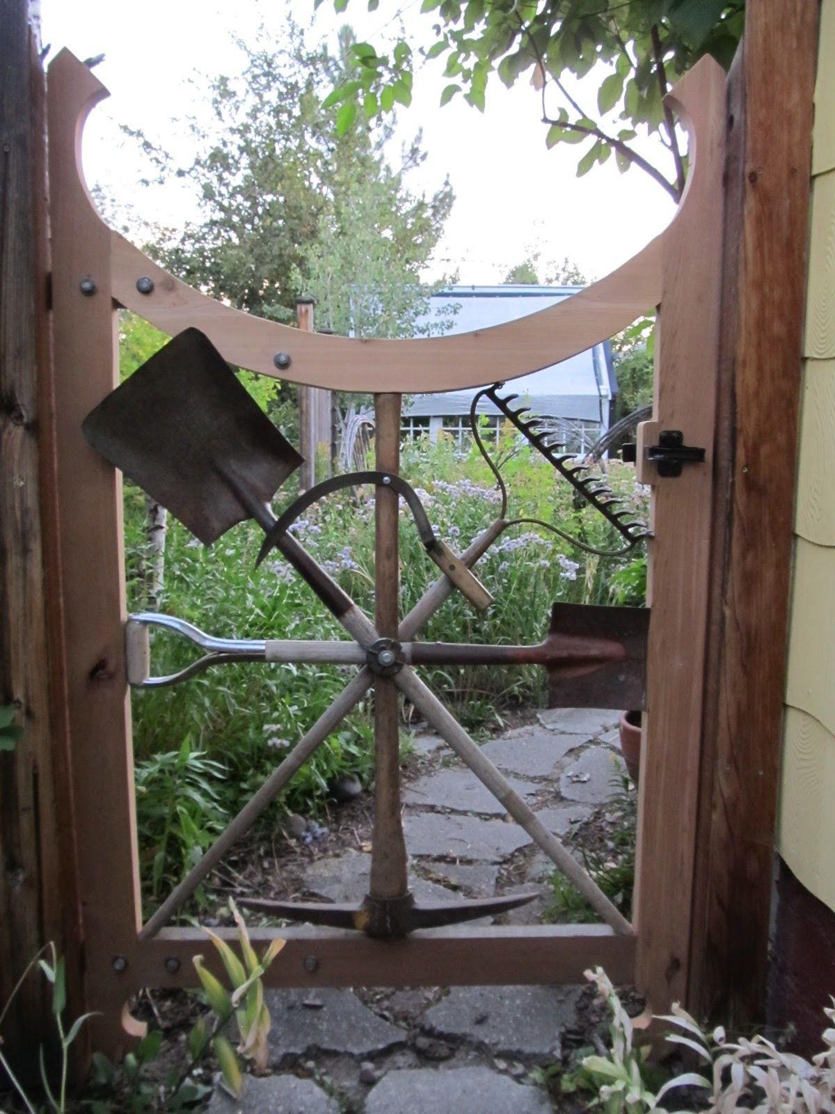 Gartenzaun Diy  Gartentor selber bauen Kreative Ideen