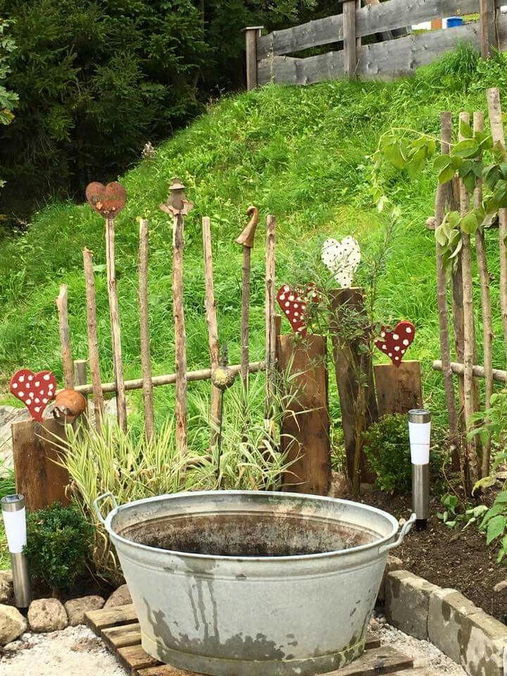 Gartenzaun Diy  Dekoelement Gartenzaun DIY Garten