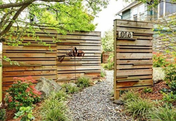 Gartenzaun Diy  Kreative Holz Sichtschutz Garten Screens And Gardens