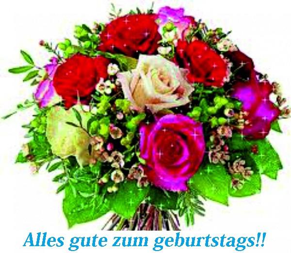 Geburtstagsbilder Blumenstrauss  Blumenstrauß aus Rosen