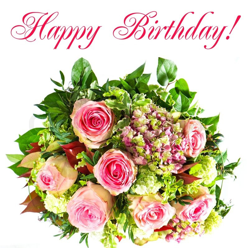 Geburtstagsbilder Blumenstrauss  Bunte Blumen Strauß Herzlichen Stockfoto