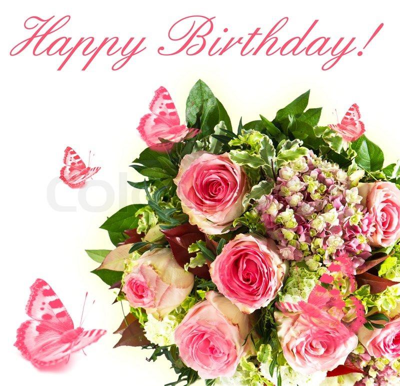 Geburtstagsbilder Blumenstrauss  Bunte Frühlingsblumen Blumenstrauß mit