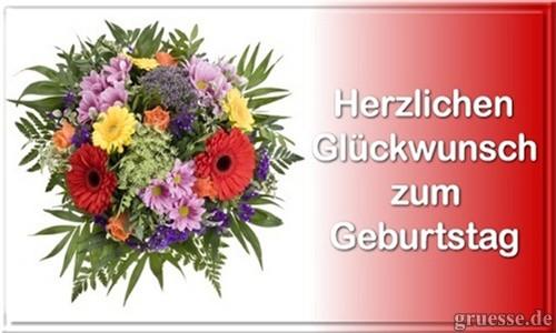 Geburtstagsbilder Blumenstrauss  Glückwünsche Geburtstag Blumen