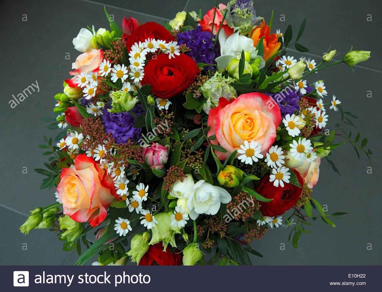 Geburtstagsbilder Blumenstrauss  Natur Pflanzen Blumen Haufen von Blumen Geburtstag