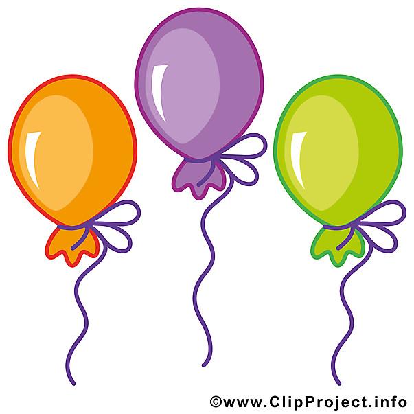 Geburtstagsbilder Facebook Kostenlos  Luftballons Clipart Bild kostenlos
