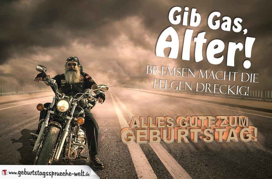 Geburtstagsbilder Motorrad  Geburtstagsspruch Rocker