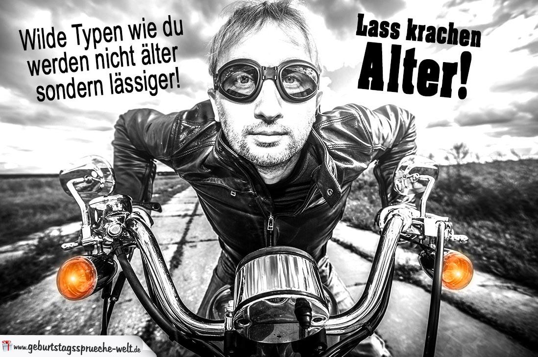 Geburtstagsbilder Motorrad  Wilde Typen Geburtstagsgrüße für lässige Männer