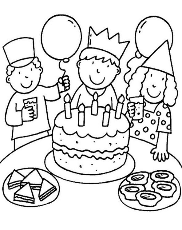 Geburtstagsbilder Zum Ausmalen  Geburtstag 1