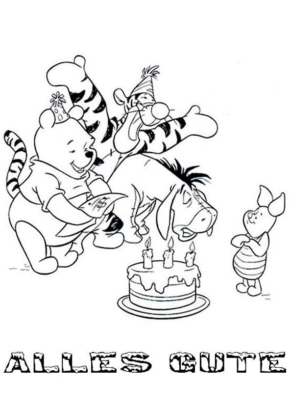 Geburtstagsbilder Zum Ausmalen  Geburtstag 5