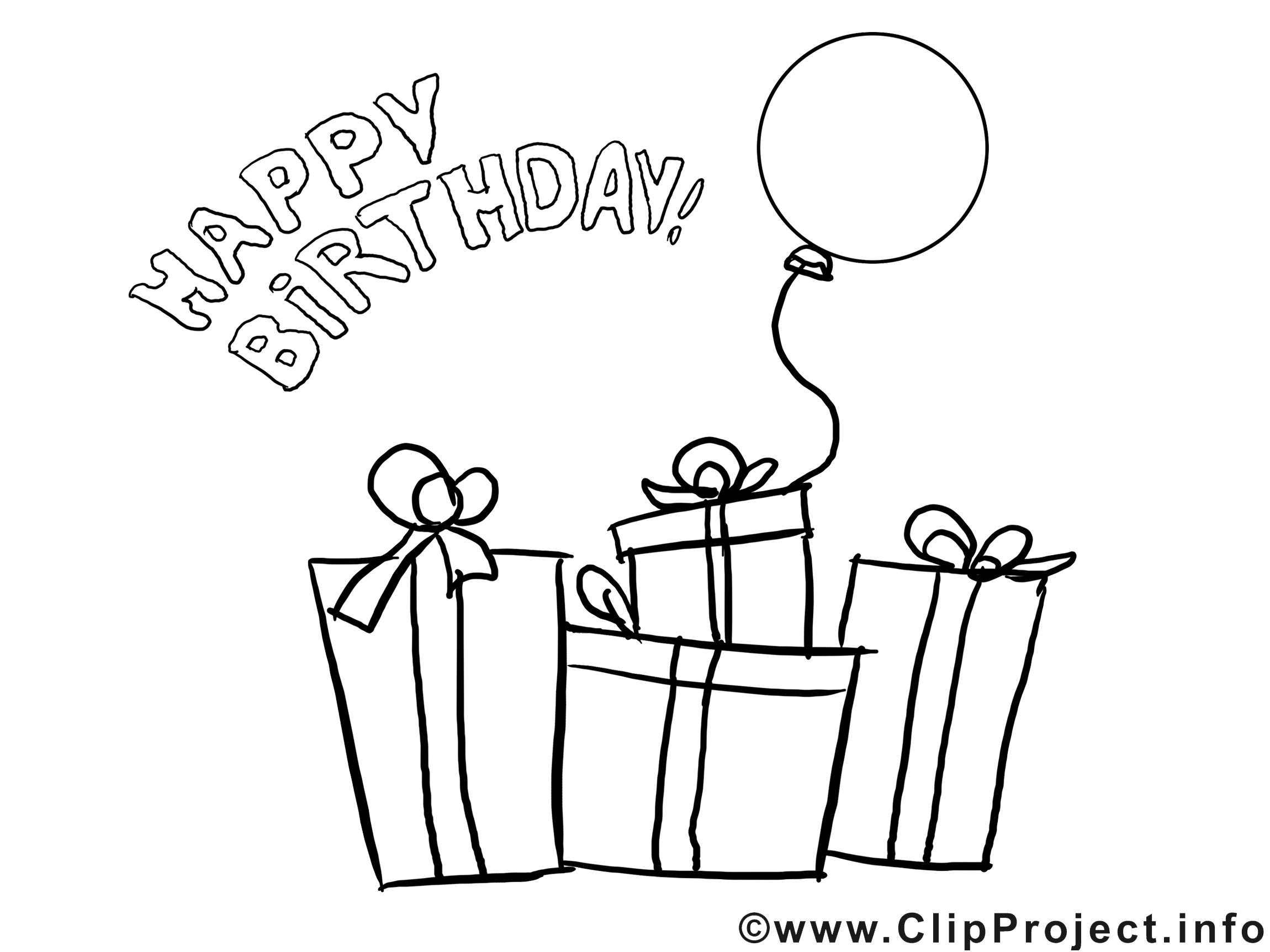 Geburtstagsbilder Zum Ausmalen  Ausmalbilder zum Geburtstag Geschenke