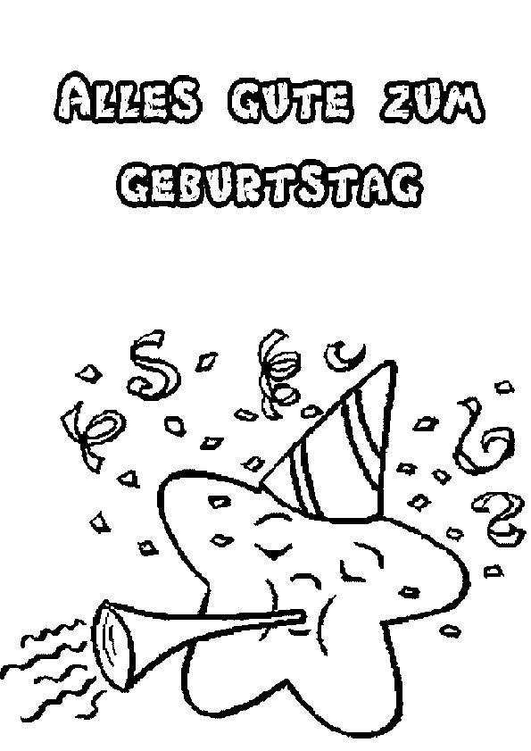 Geburtstagsbilder Zum Ausmalen  Bilder Zum Geburtstag Ausmalen