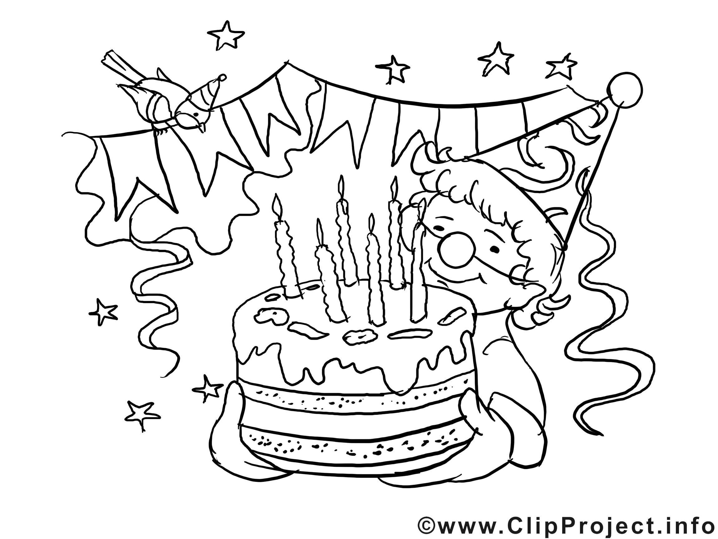 Geburtstagsbilder Zum Ausmalen  Zum Geburtstag viel Glück Bild zum Ausmalen