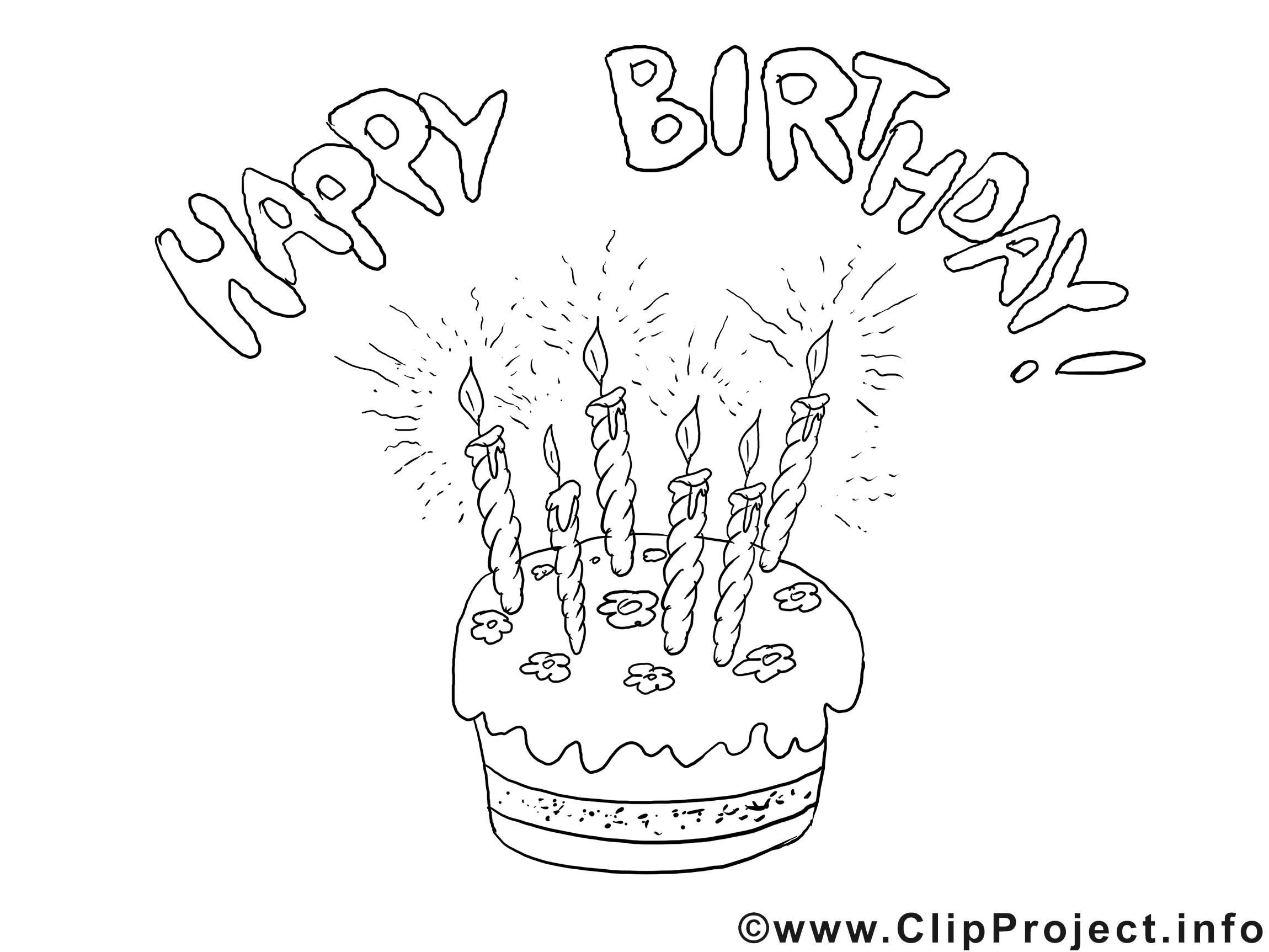 Geburtstagsbilder Zum Ausmalen  Ausmalbild zum Geburtstag