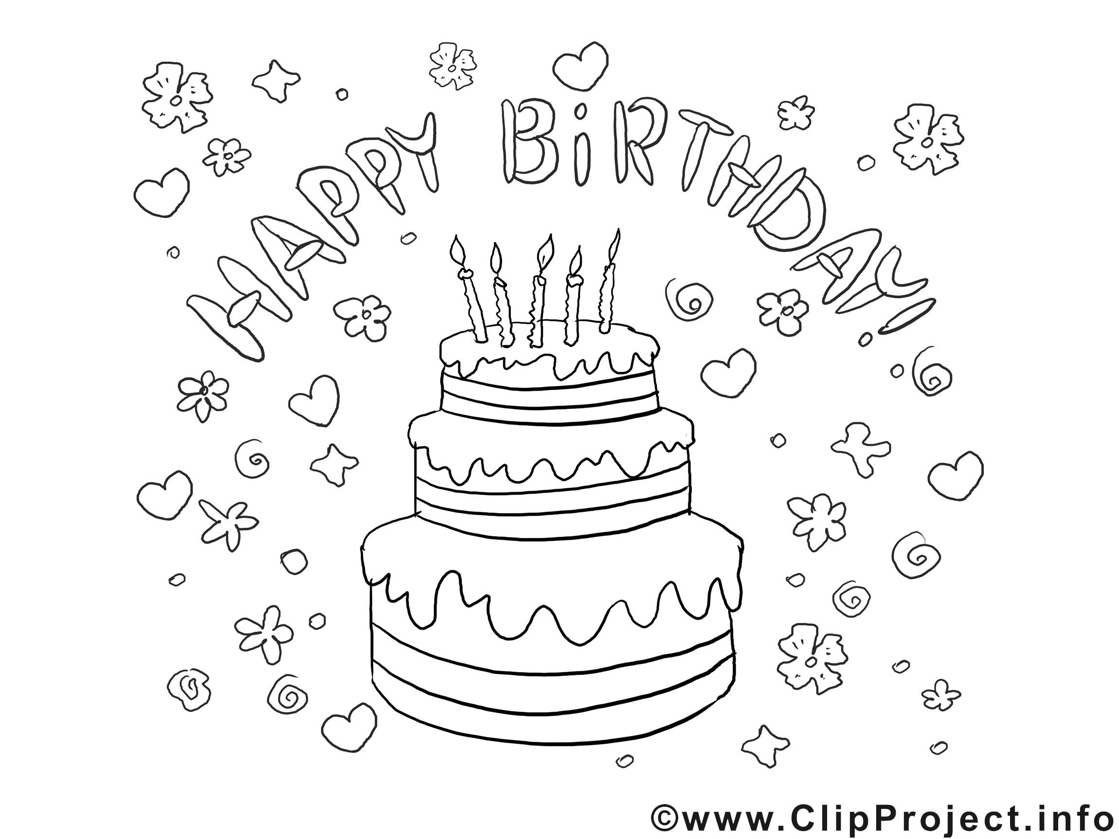 Geburtstagsbilder Zum Ausmalen  Bild zum Ausmalen Geburtstag