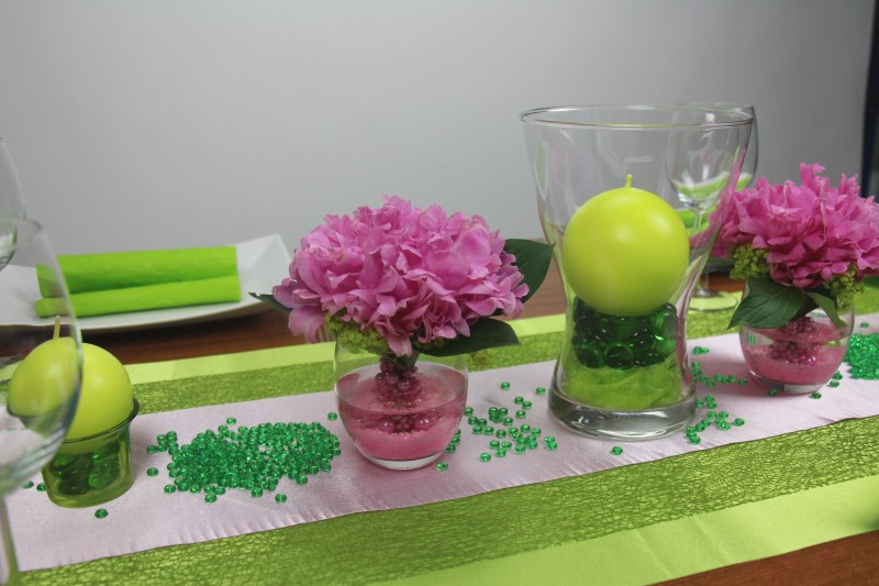 Geburtstagsfeier Ideen Für 15 Jährige  Tischdeko grün rosa
