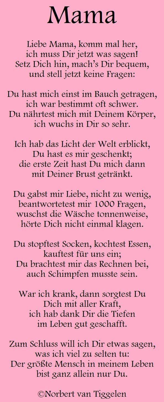 Geburtstagsgedichte Für Mama  Gedichte mitten aus dem Leben von Norbert van Tiggelen