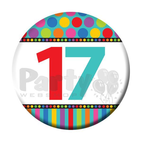 Geburtstagsgedichte Zum 17 Geburtstag  Ansteckbutton zum 17 Geburtstag