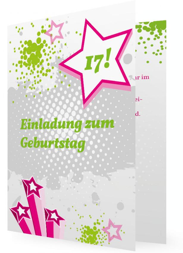 Geburtstagsgedichte Zum 17 Geburtstag  Geburtstagseinladungskarte für Teens