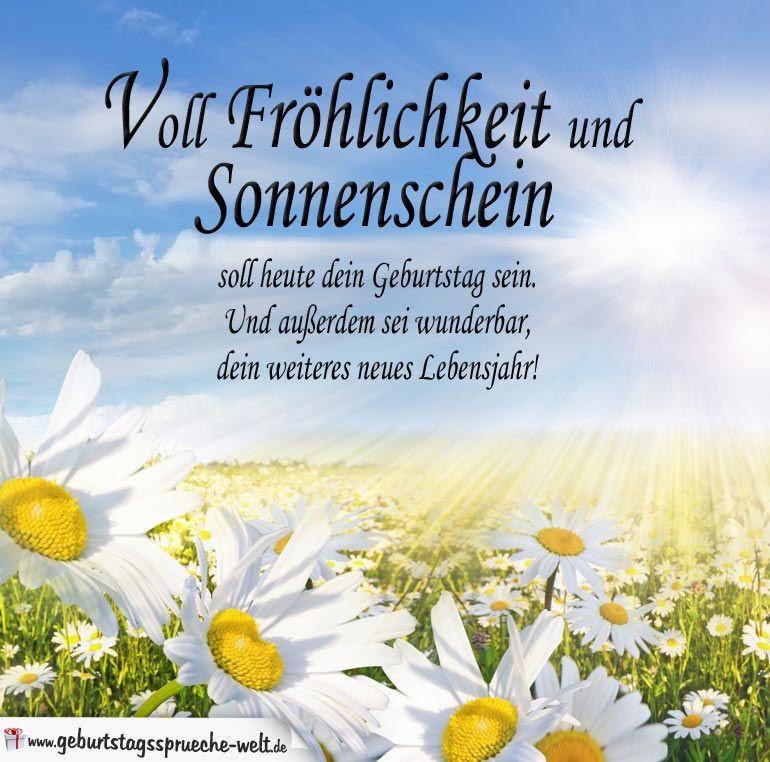 Geburtstagsgedichte Zum 17 Geburtstag  Spruch zum Geburtstag Voll Fröhlichkeit und Sonnenschein