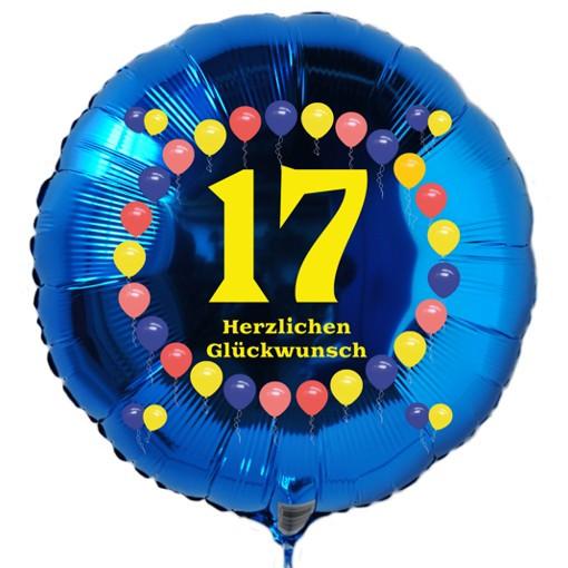 Geburtstagsgedichte Zum 17 Geburtstag  Luftballon 17 Geburtstag Ballonsupermarkt lineshop