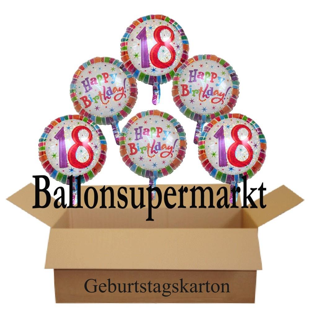 Geburtstagsgeschenk 18  Geburtstagsgeschenk Luftballons mit Helium im Karton