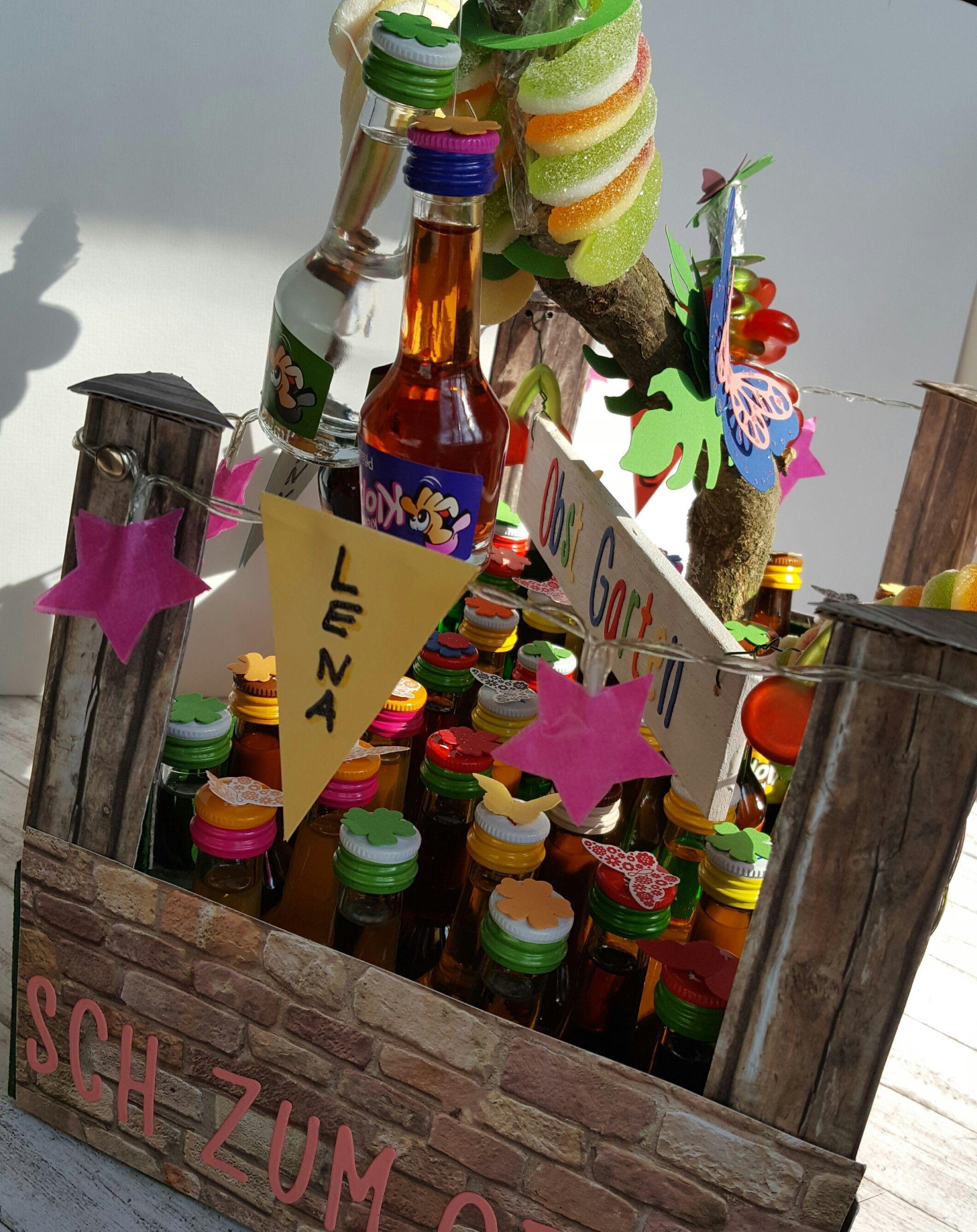 Geburtstagsgeschenk 18  Kleine Schnäpse Klopfer zum Geburtstag dekorativ