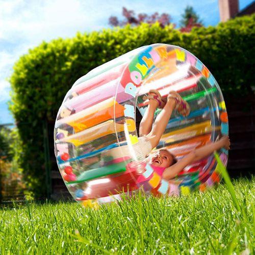 Geburtstagsgeschenk 3 Jahre  Kinder Zorbing Rad zum Aufblasen und Rollen