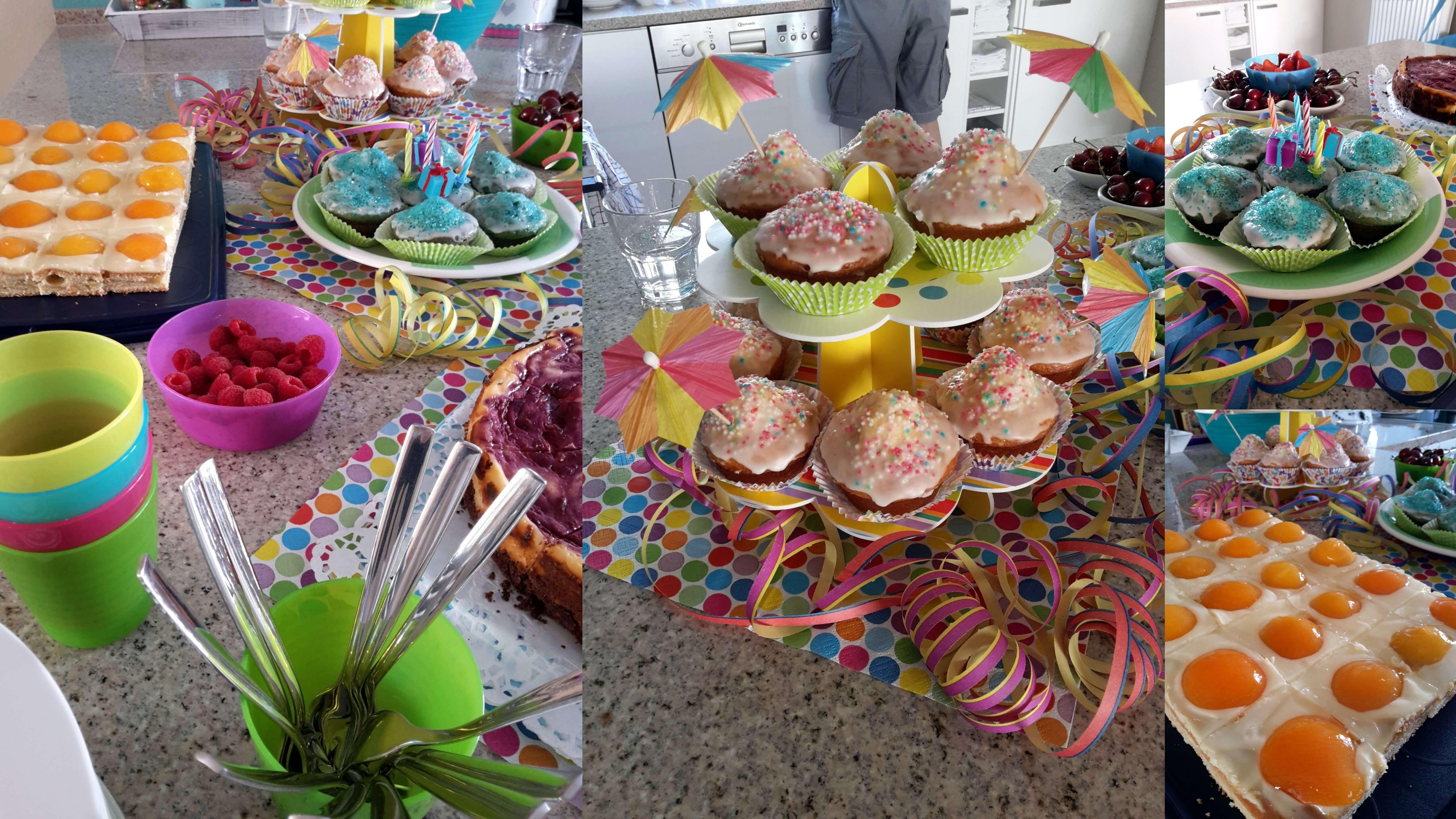 Geburtstagsgeschenk 3 Jahre  Schnelle Kinder Kuchen Schlumpfpupsmuffins und