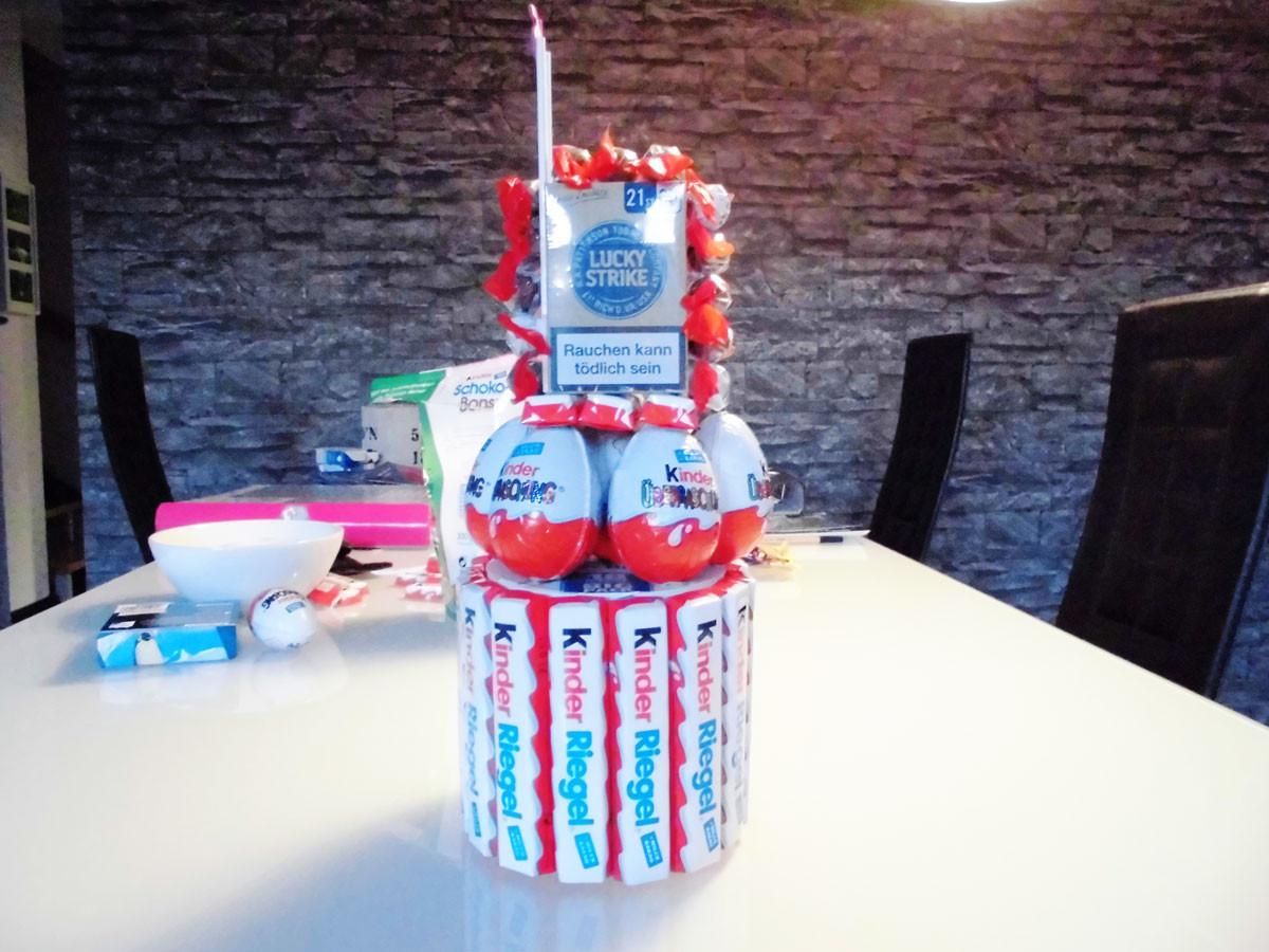 Geburtstagsgeschenk 3 Jahre  Kinderriegel Torte selber basteln in nur 30 Minuten