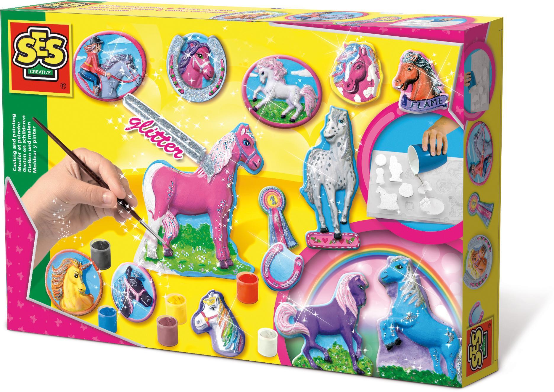 Geburtstagsgeschenk 3 Jahre  SES Pferde gießen und anmalen Amazon Spielzeug