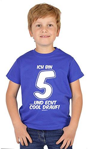 Geburtstagsgeschenk 5 Jahre  Jungenbekleidung von Veri in Blau