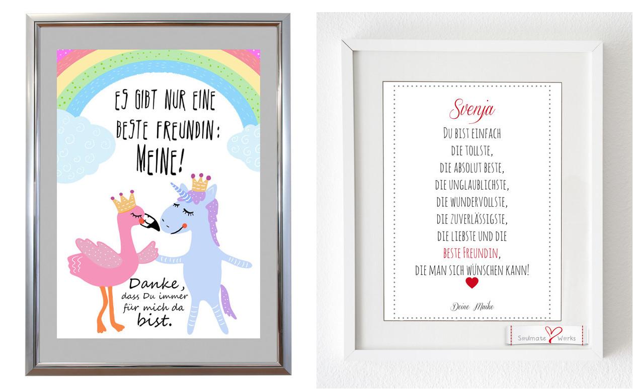 Geburtstagsgeschenk Beste Freundin  Geschenk für beste Freundin Tipps und Ideen DIY und Action