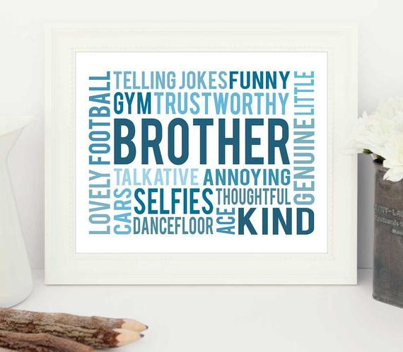 Geburtstagsgeschenk Bruder  Geburtstagsgeschenk für Bruder Bruder Geschenk Geschenk