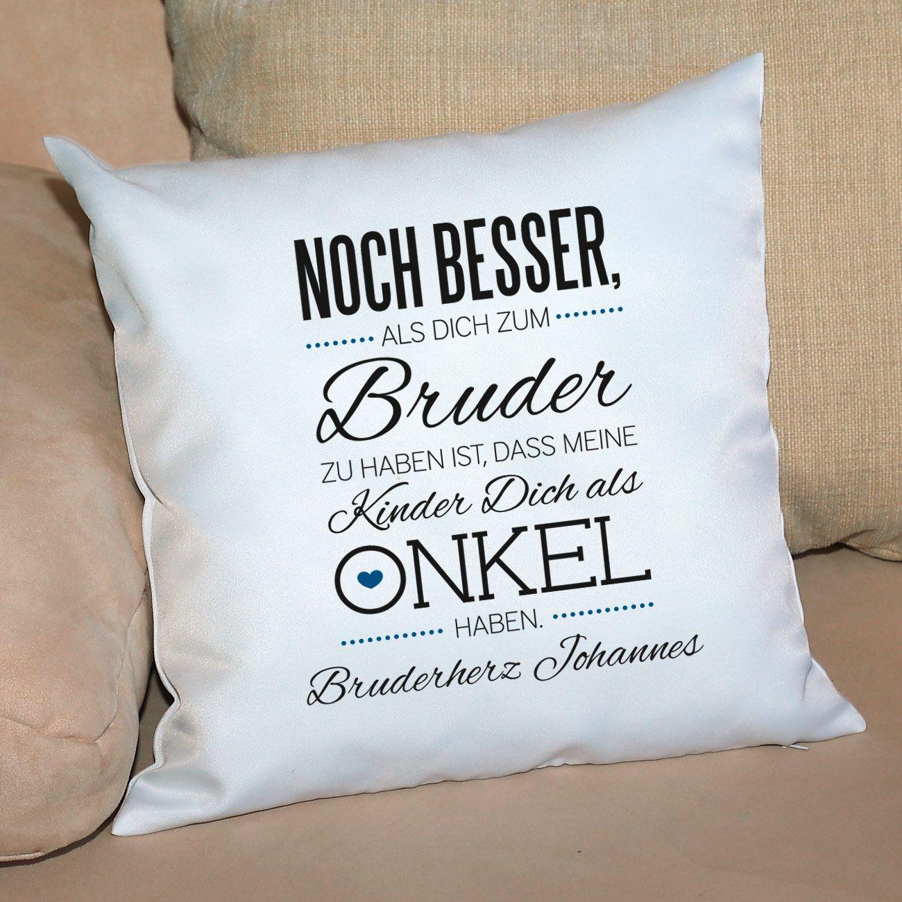 Geburtstagsgeschenk Für Bruder  Kuschelkissen für den besten kel mit Wunschtext