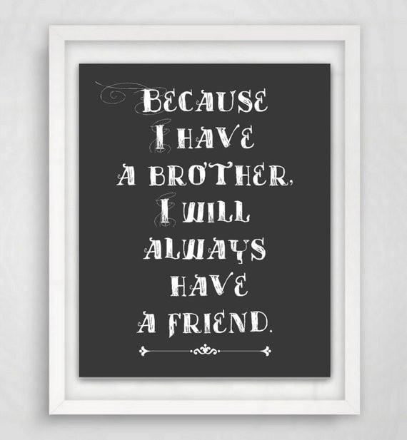 Geburtstagsgeschenk Für Bruder  Geschenk für Brüder Bruder von 8 x 10 Print von