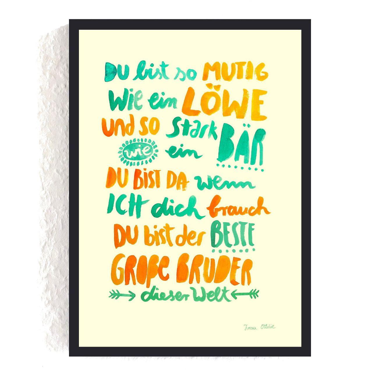 Geburtstagsgeschenk Für Bruder  Print Großer Bruder bruder geschwisterliebe