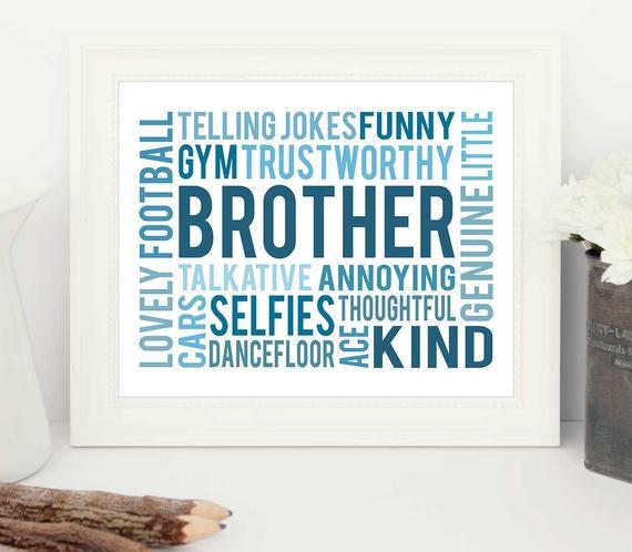 Geburtstagsgeschenk Für Bruder  Geburtstagsgeschenk für Bruder Bruder Geschenk Geschenk