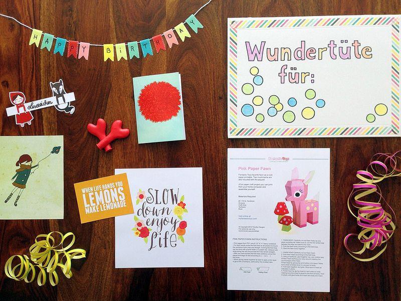 Geburtstagsgeschenk Für Freundin 18  DIY Wundertüte basteln Geschenkidee für beste
