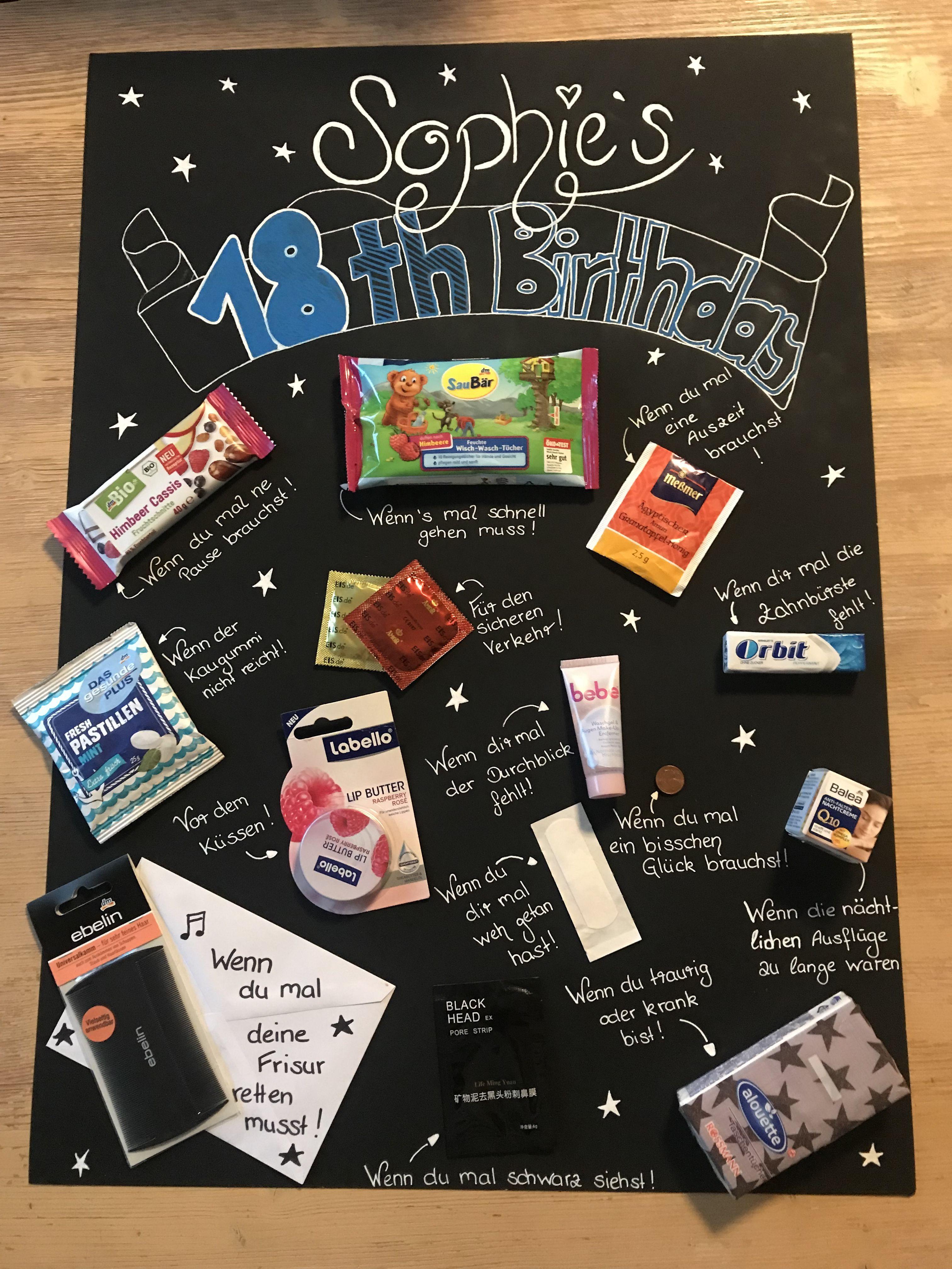 Geburtstagsgeschenk Für Freundin 18  Friseurgutschein kreativ zum 18 geschenkt