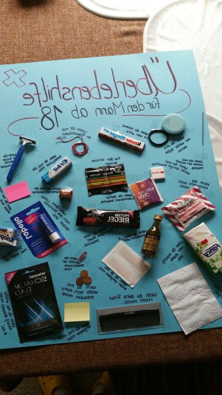 Geburtstagsgeschenk Für Freundin 18  18 Geburtstag geschenk selbstgemacht