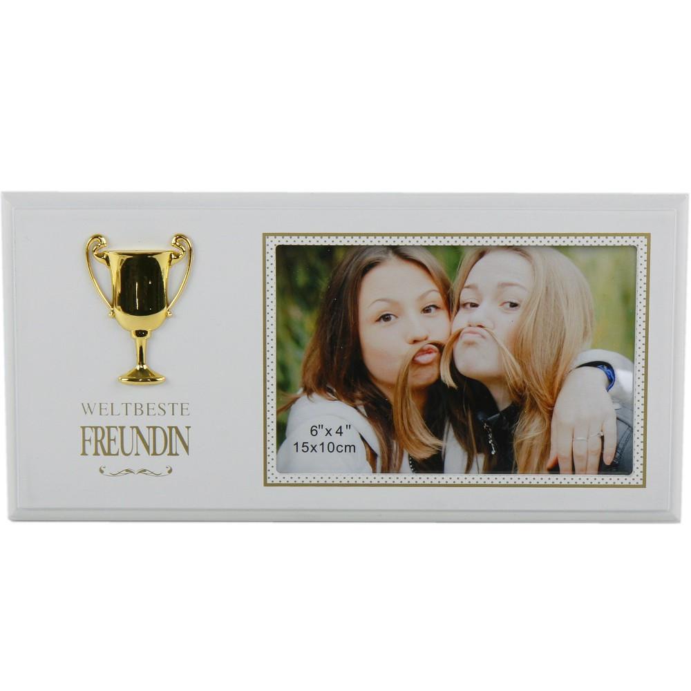 """Geburtstagsgeschenk Für Freundin  Bilderrahmen """"Weltbeste Freundin"""" als Geburtstagsgeschenk"""