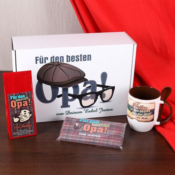 Geburtstagsgeschenk Für Opa  Geschenkbox für den Besten Opa mit Namen des Schenkenden