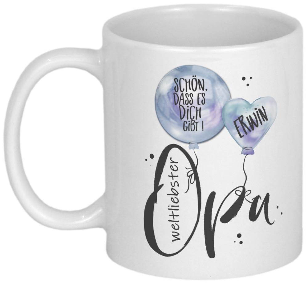 Geburtstagsgeschenk Für Opa  Geschenke für Opa personalisierbare Tasse Becher