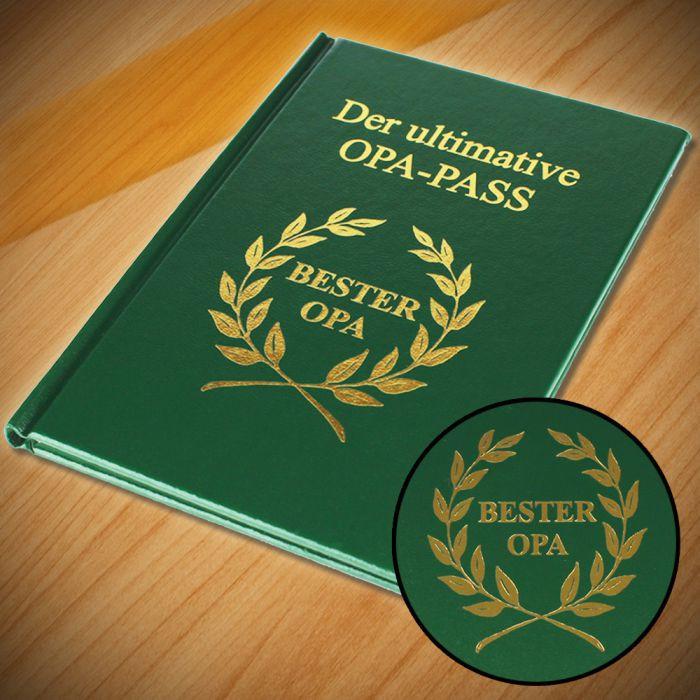 Geburtstagsgeschenk Für Opa  Der ultimative Opa Pass unverzichtbarer Ausweis für alle