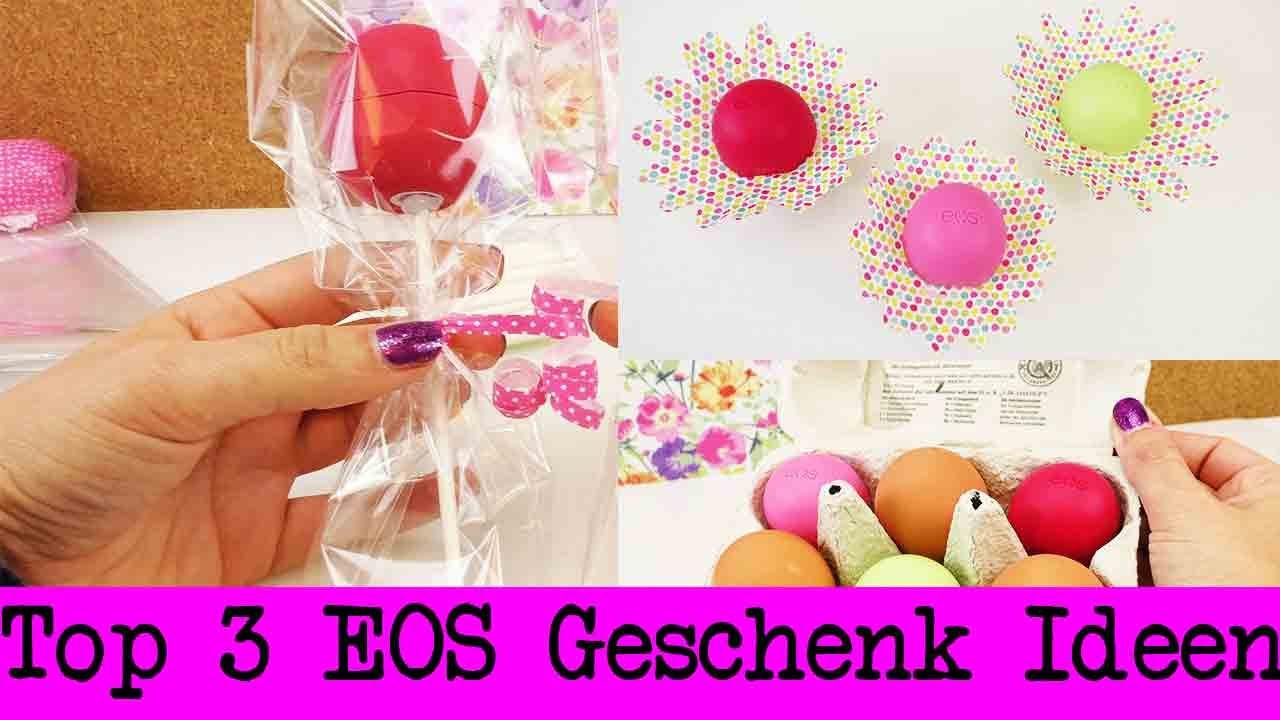 Geburtstagsgeschenk Ideen Freundin  EOS Lipbalm als Geschenk 3 süße Ideen
